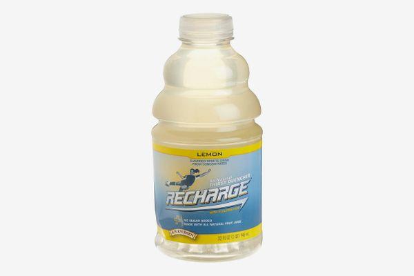 R.W. Knudsen Recharge Sports Drink, Lemon, 32-Ounce Bottles