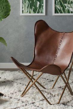 Mistana Justa Leather Lounge Chair