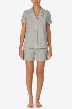 Lauren Ralph Lauren Cotton Striped Boxers Pajamas Set