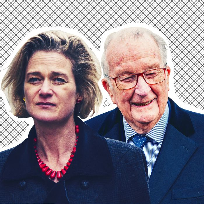 Delphine Boël and former King Albert II of Belgium.