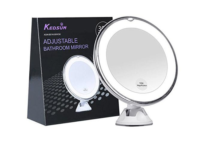 KEDSUM 6.8 10x Magnifying LED Lighted Makeup Mirror