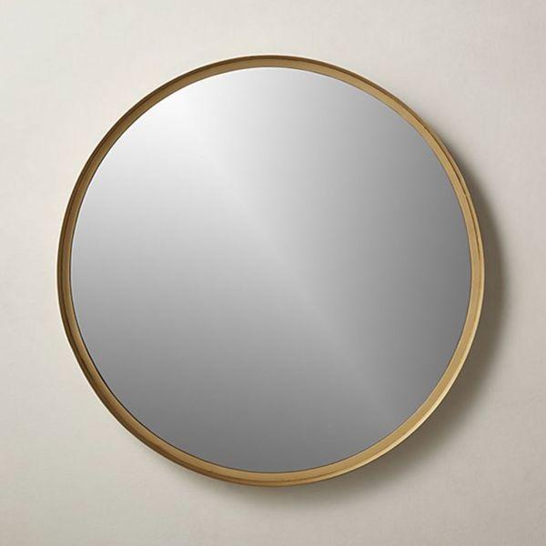 Croft Round Brass Mirror 36 Inches
