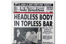 New York Post front page with headline HEADLESS BODY IN TOPLESS BAR. April 15, 1983.