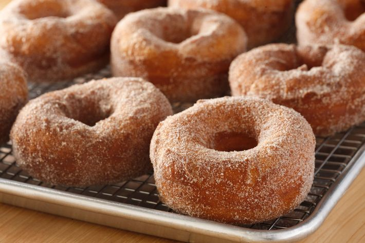 Cinnamon-and-cardamom yeast doughnut.