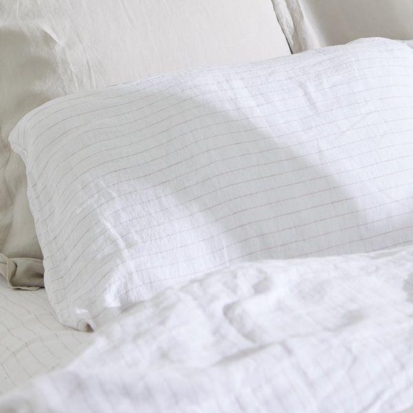 Parachute Pinstripe Linen Pillowcase Set