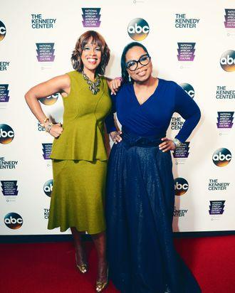 Gayle King and Oprah Winfrey.