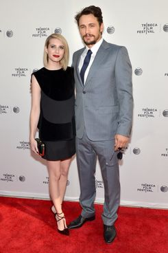 "Actors Emma Roberts (L) and James Franco attend the ""Palo Alto"" Premiere during the 2014 Tribeca Film Festival at the SVA Theater on April 24, 2014 in New York City."