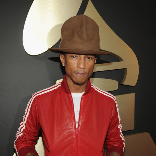 LOS ANGELES, CA - JANUARY 26:  Pharrell Williams  attends the 56th GRAMMY Awards at Staples Center on January 26, 2014 in Los Angeles, California.  (Photo by Kevin Mazur/WireImage)