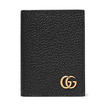 Gucci Pebble-Grain Leather Cardholder