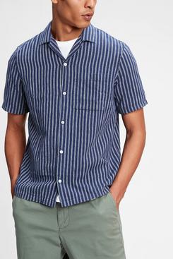 Gap Linen-Cotton Button-Front Shirt