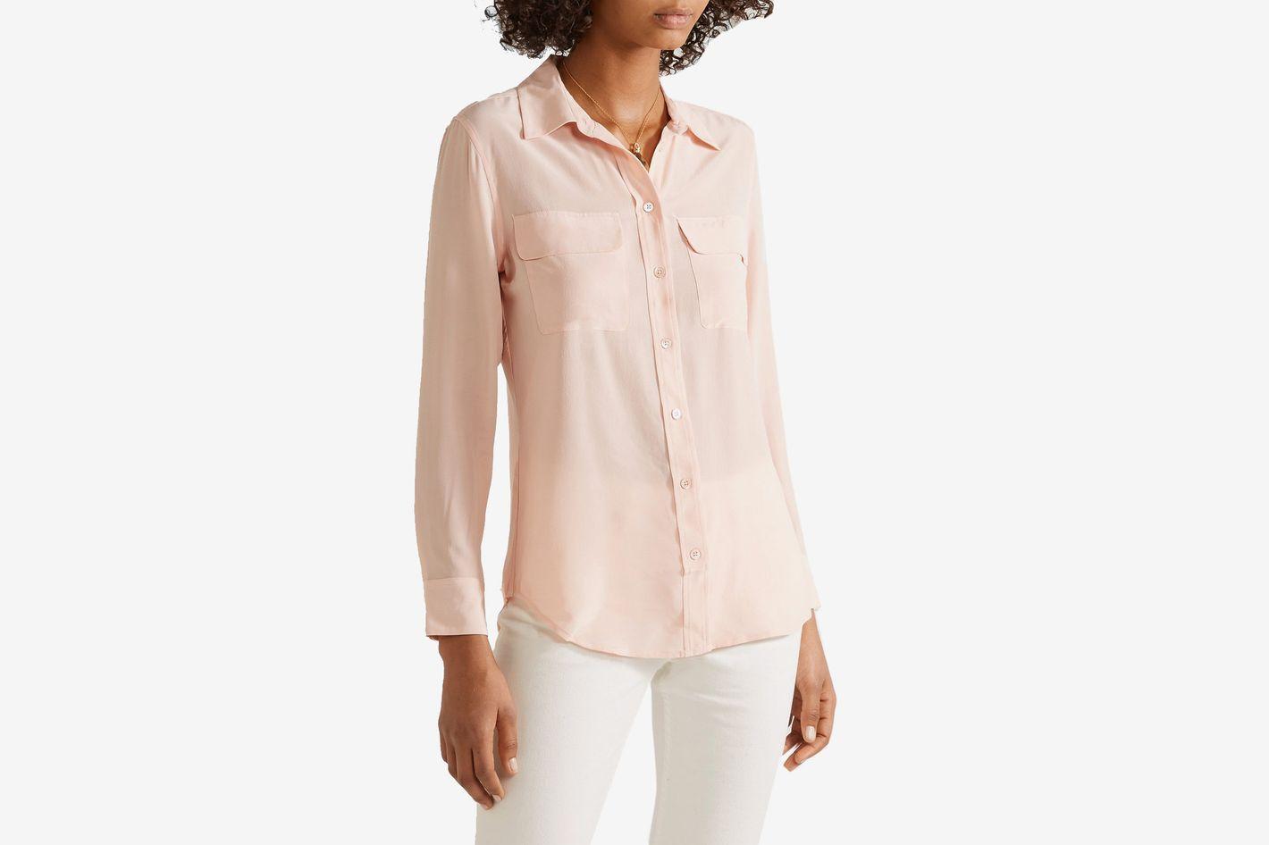 Equipment Slim Signature Washed Silk Shirt