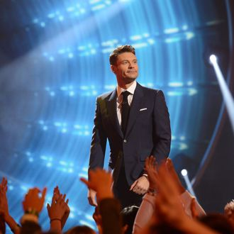 AMERICAN IDOL XIII: Ryan Seacrest on AMERICAN IDOL XIII airing Thursday, April 17 (9:00-9:30 PM ET / PT) on FOX. CR: Michael Becker / FOX. Copyright 2014 / FOX Broadcasting.
