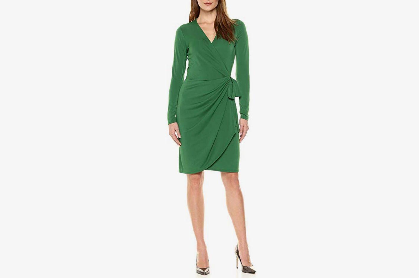 Lark & Ro Women's Classic Long Sleeve Wrap Dress
