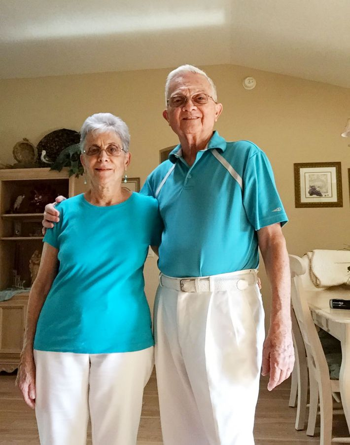 Elderly Married Couple Wears Matching Outfits Every Day