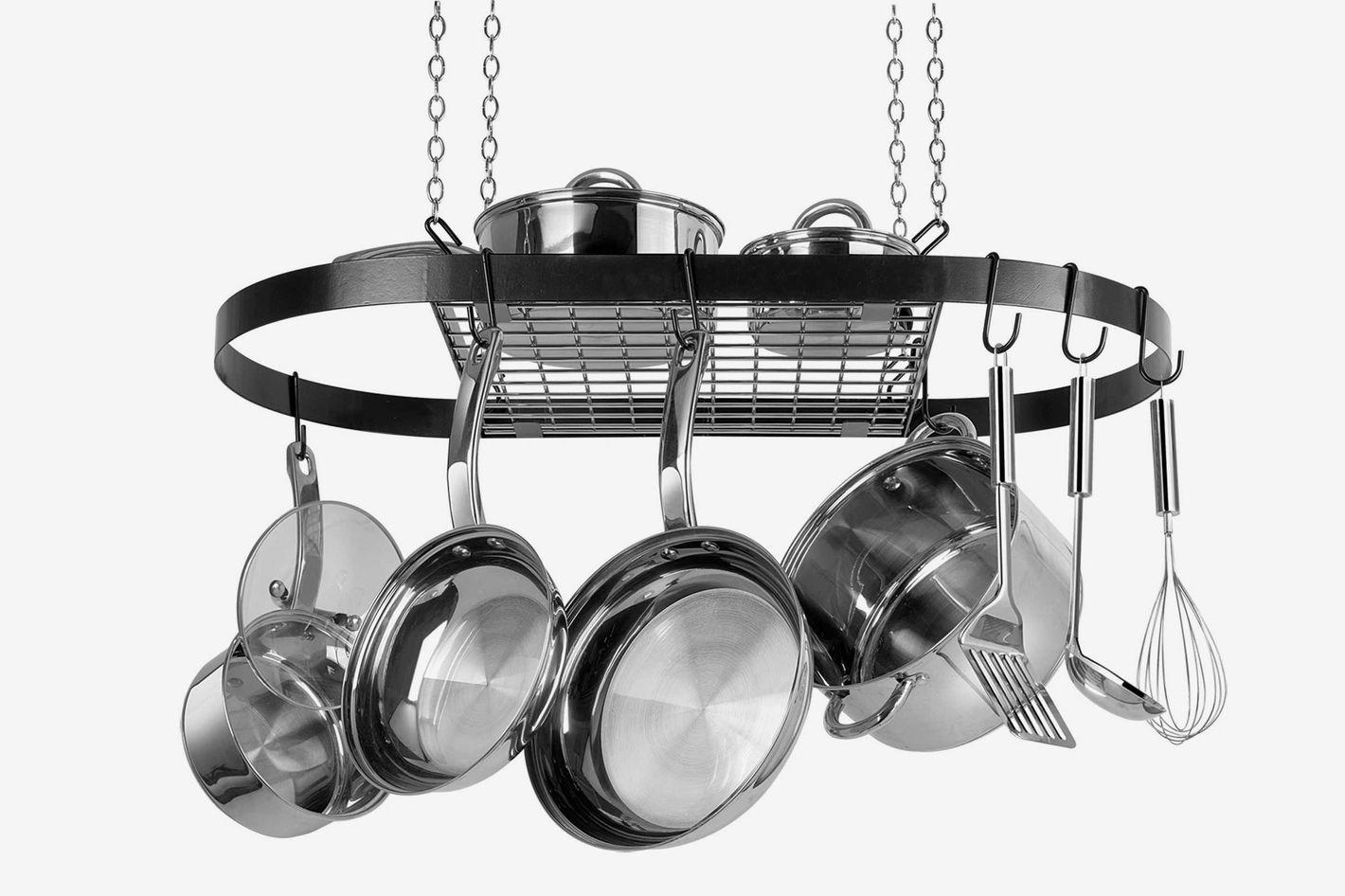 Range Kleen Oval Hanging Pot Rack in Black