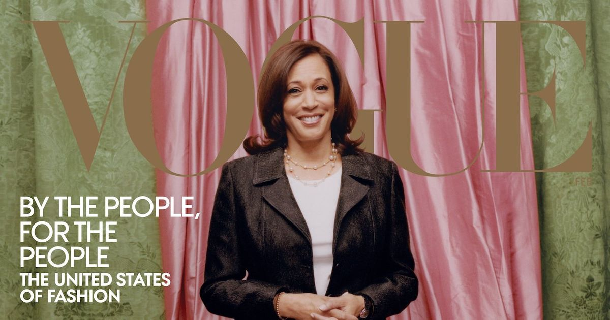 Image of article 'Kamala Harris Gets Her First Vogue Cover'