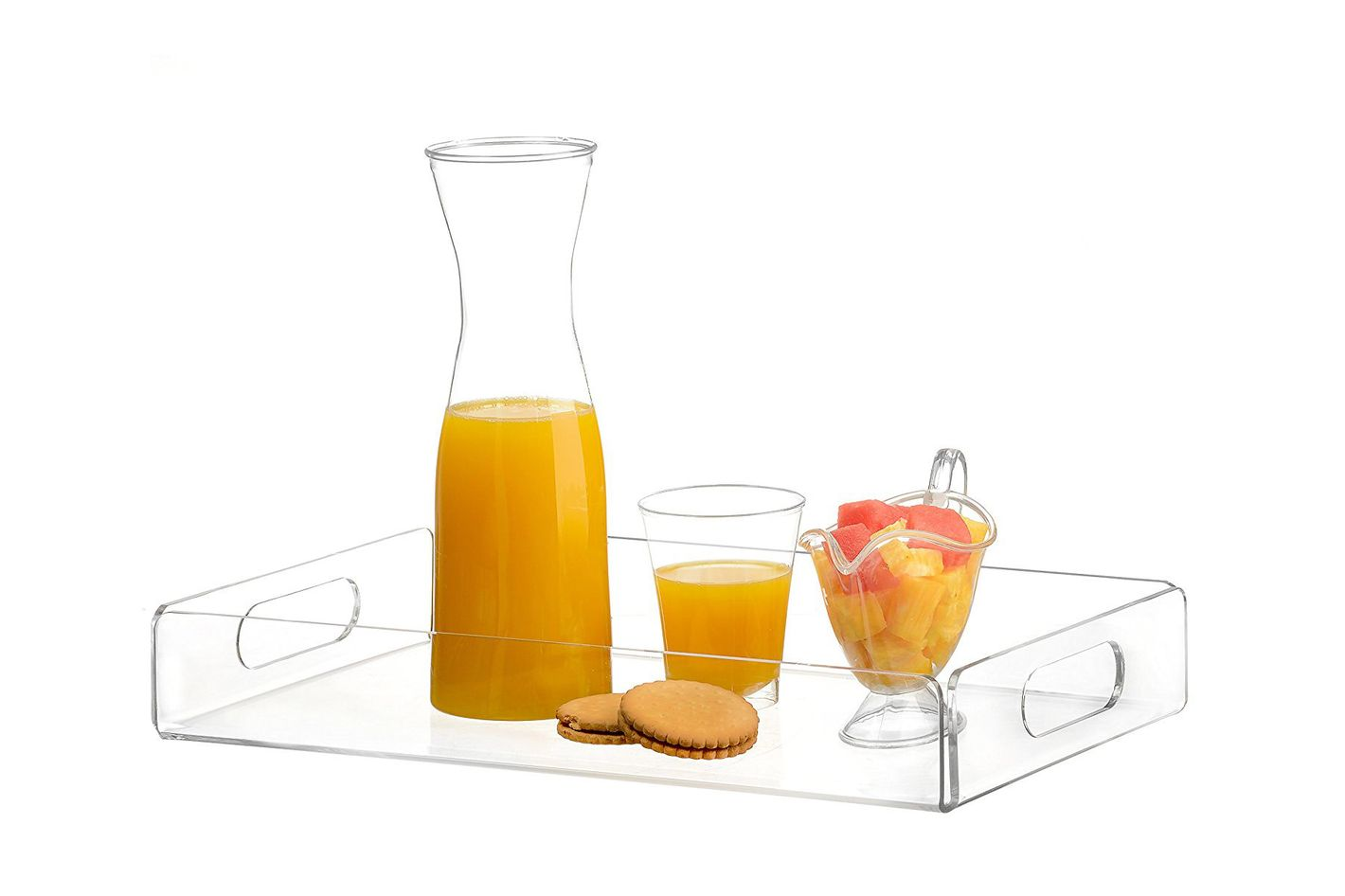 MyGift 22 inch Premium Large Clear Acrylic Tray