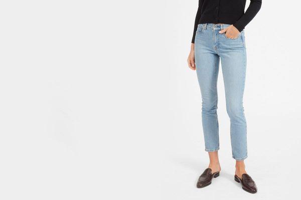 Everlane Mid-Rise Skinny Jean, Mid Blue