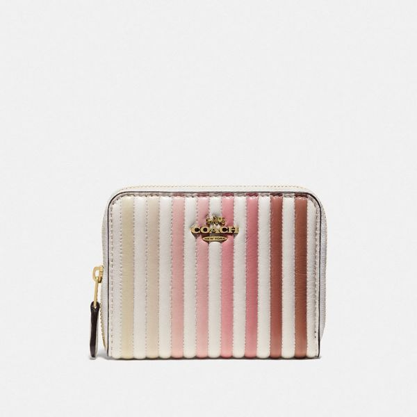 quilted coach small zip around wallet coach-summer-sale