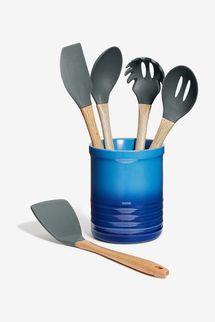 Martha Stewart Collection 5-Pc. Kitchen Utensil Set & Crock