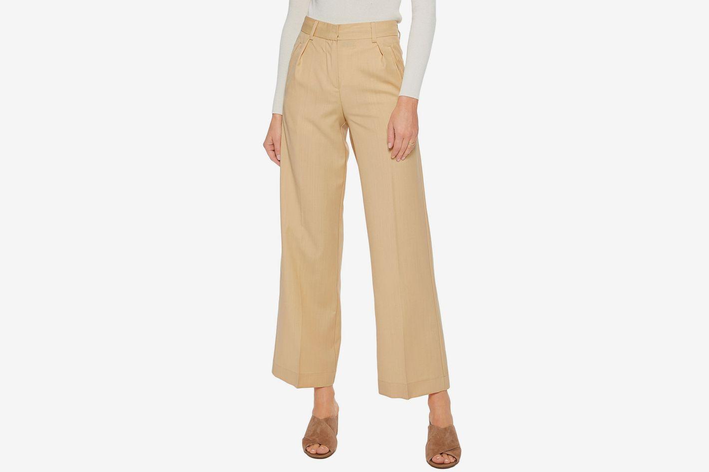 Iris & Ink Bonnie wool-blend wide-leg pants