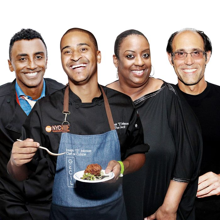 "Marcus Samuelsson, Joseph ""JJ"" Johnson, Melba Wilson, and Frank Pellegrino Jr. will all participate."