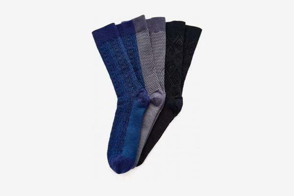 Ace & Everett Set of 3 Men's Wool Socks