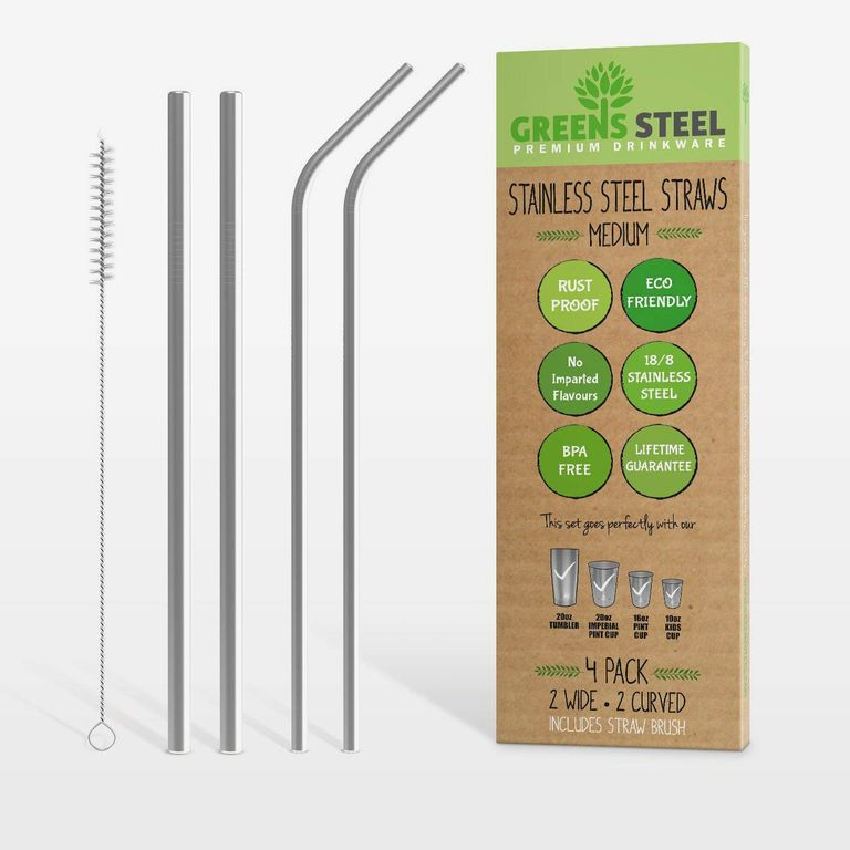 Green Steel Straws - one of the best $10 gift idea