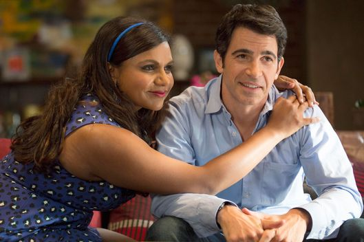 "THE MINDY PROJECT:  Mindy (Mindy Kaling, L) learns a lesson after Danny (Chris Messina, R) becomes frustrated with her chronic tardiness in the ""Caramel Princess Time"" episode of THE MINDY PROJECT airing Tuesday, Nov. 4 (9:30-10:00 PM ET/PT) on FOX.  ?2014 Isabella Vosmikova/FOX"