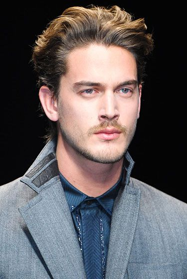 "<b>Best attempt at growing a beard when you just can't quite.</b>   <a href=""http://nymag.com/fashion/fashionshows/2012/fall/main/europe/menrunway/robertocavalli/"">See the complete fall 2012 Roberto Cavalli Menswear collection</a>."