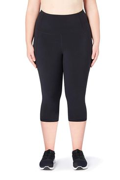 Core 10 Women's 'Build Your Own' Onstride Run Capri Legging High Waist in black