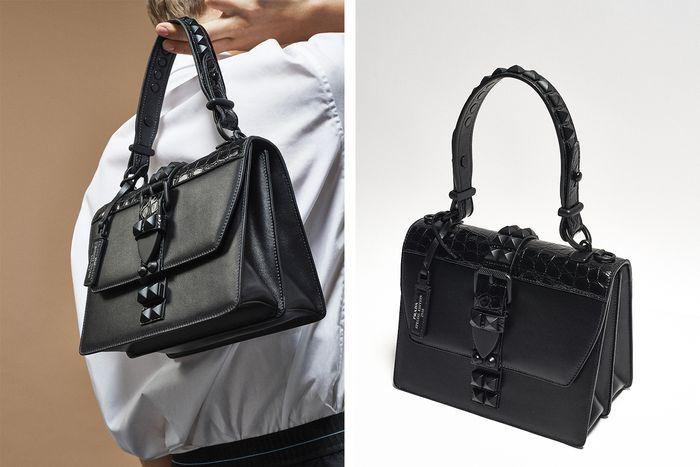 92b0eb64e8 See Prada s All-Black Handbag Capsule Collection