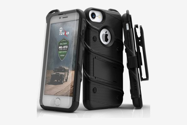 Zizo Bolt Series iPhone Case with Tempered Glass Screen Protector, Holster