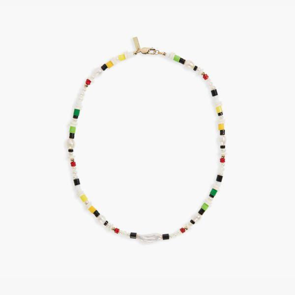 ÉLIOU Manaus Kilkis Bead & Baroque Pearl Necklace