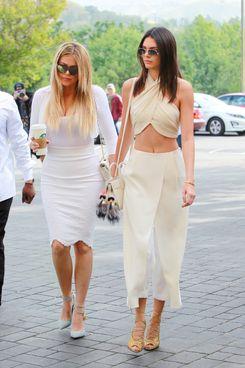 Khloé Kardashian and Kendall Jenner.