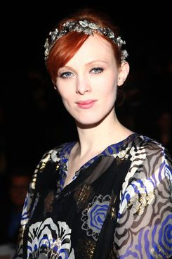 NEW YORK, NY - FEBRUARY 15:  Model Karen Elson attends the Anna Sui Fall 2012 fashion show during Mercedes-Benz Fashion Week at The Theatre at Lincoln Center on February 15, 2012 in New York City.  (Photo by Astrid Stawiarz/Getty Images for Mercedes-Benz Fashion Week)