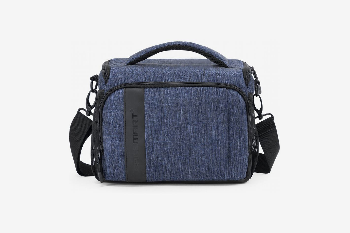 BAGSMART Compact Camera Bag for SLR/DSLR with Waterproof Rain Cover, Heather Blue