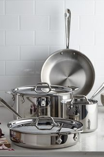 All-Clad Stainless-Steel 7-Piece Cookware Set
