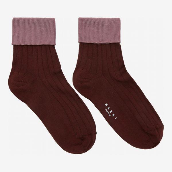 Marni Purple & Pink Silk Socks