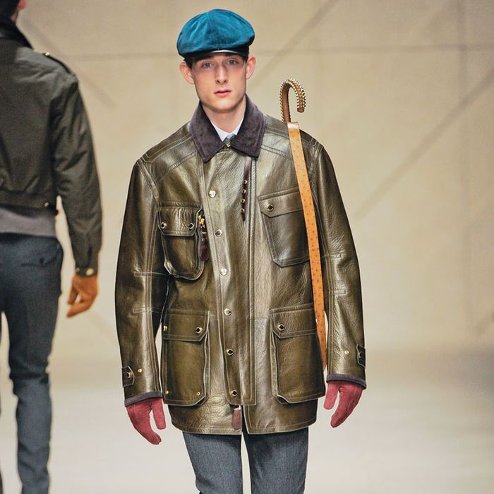 A look from Burberry's fall 2012 show.