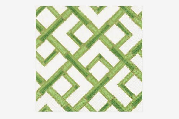Caspari Bamboo Green Dinner Napkins - Pack of 20