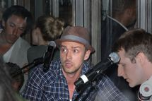 Justin Timberlake plays guitar at Southern Hospitality for guests, Kim Kardashian and Kris Humphries in NYC.         <P>         Pictured: Justin Timberlake         <P>         <B>Ref: SPL311009  310811  </B><BR/>         Picture by: Jackson Lee / Splash News<BR/>         </P><P>         <B>Splash News and Pictures</B><BR/>         Los Angeles:310-821-2666<BR/>         New York:212-619-2666<BR/>         London:870-934-2666<BR/>         photodesk@splashnews.com<BR/>         </P>