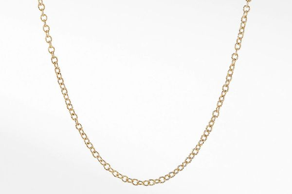 Small Cable Rolo Chain Necklace in 18k Gold
