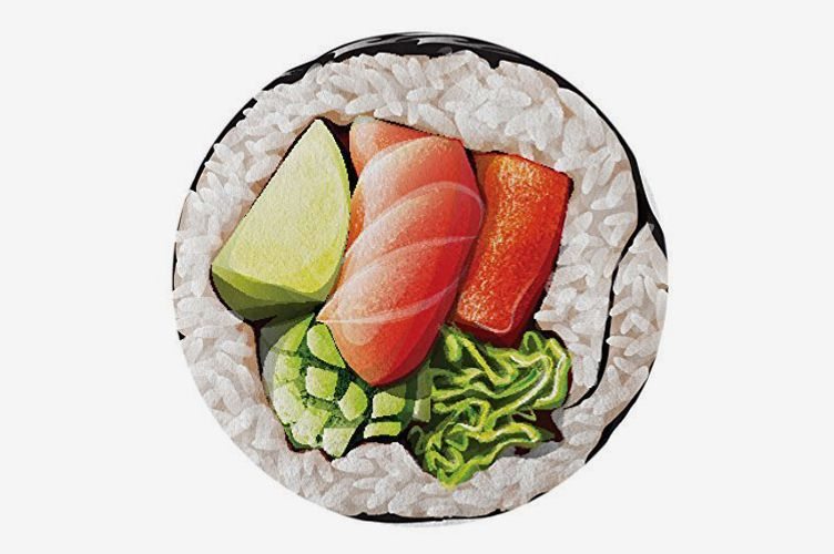 Round Towel Co. Sushi Roll Round Beach Towel 100% Cotton Roundie Cali Sushi Roll