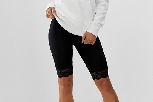 ASOS DESIGN legging short with lace hem