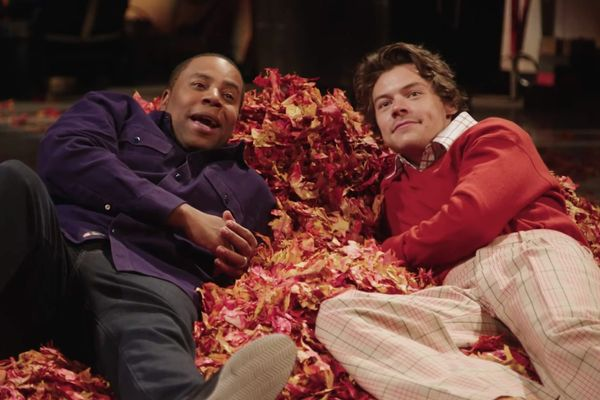 Harry Styles's SNL Promo Lets You Fantasize About Lying In a Leafbed With Harry Styles