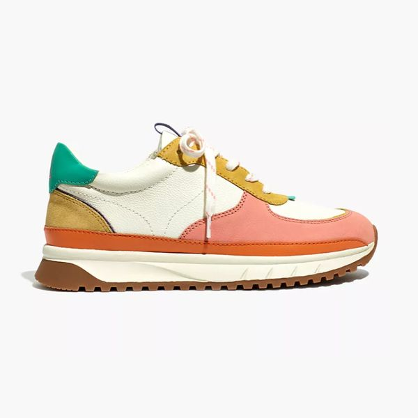 Kickoff Trainer Sneakers in Colorblock Leather