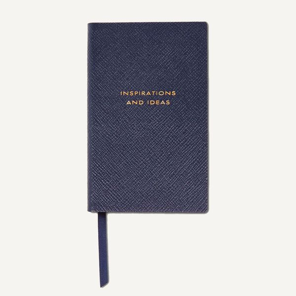 Smythson Panama Inspirations and Ideas Textured-Leather Notebook