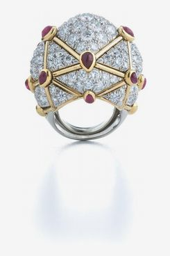 David Webb Geodesic Dome Ring