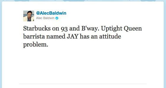 Does Alec Baldwin Realize Other People Can See His Tweets?